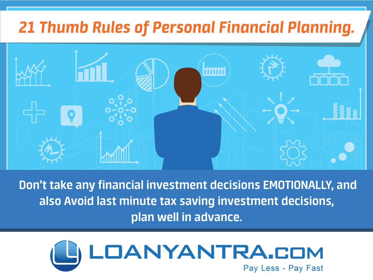 21 Thumb Rules of Personal Financial Planning.