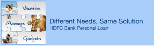 Personal loan from HDFC Bank via loanyantra.com